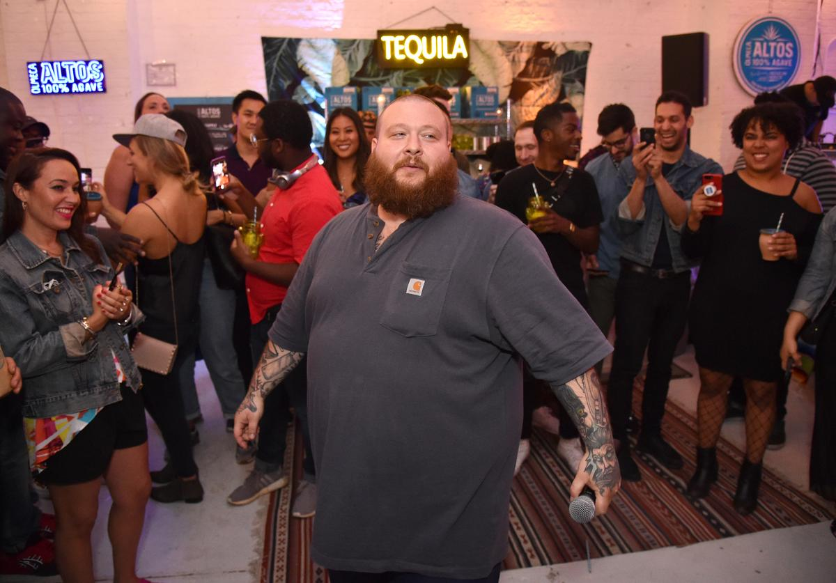 Action Bronson performs during the Olmeca Altos J. Hernandez And Sons Bodega Pop Up NYC on June 12, 2018 in New York City.