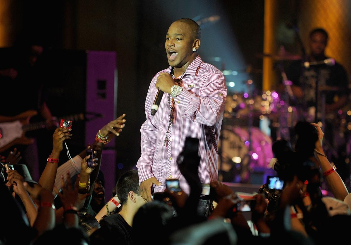 Rapper Cam'ron performs at a One Night Only show for AXE Music at Capitale on August 16, 2010 in New York City.