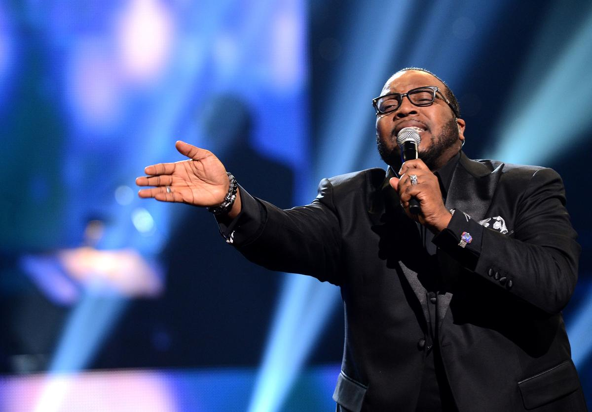 Marvin Sapp performs on the 28th Annual Stellar Awards Show at Grand Ole Opry House on January 19, 2013 in Nashville, Tennessee.