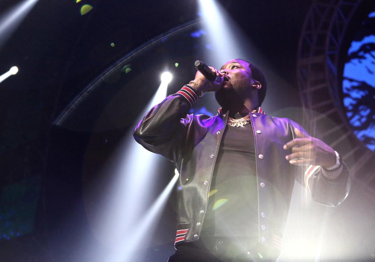 Meek Mill performs onstage at the STAPLES Center Concert Sponsored by SPRITE during the 2018 BET Experience on June 23, 2018 in Los Angeles, California.
