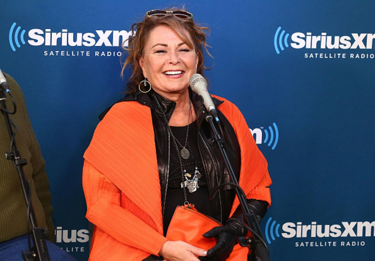 Actress Roseanne Barr speaks during SiriusXM's Town Hall with the cast of Roseanne on March 27, 2018 in New York City