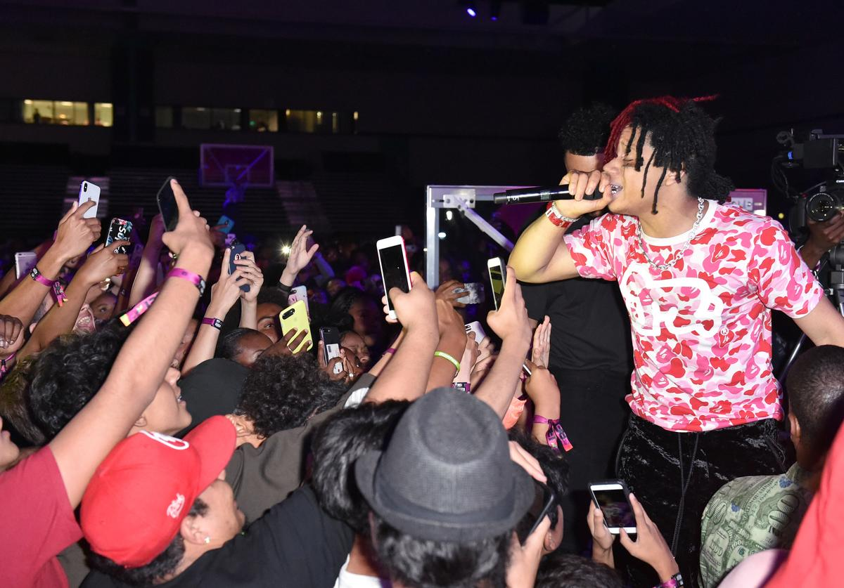 Trippie Redd performs at the BETX Main Stage, sponsored by Credit Karma, at 2018 BET Experience Fan Fest at Los Angeles Convention Center on June 22, 2018 in Los Angeles, California