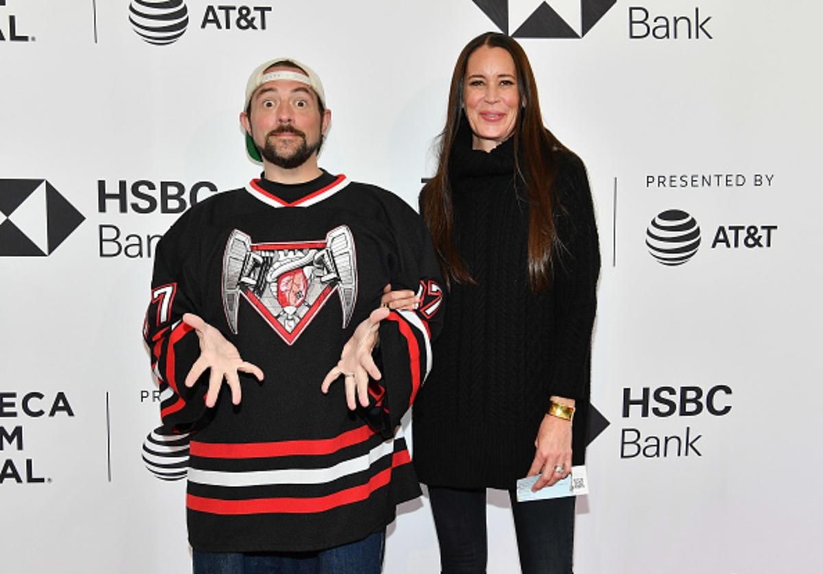 Kevin Smith and Jennifer Schwalbach Smith attend the screening of 'All These Small Moments' during the 2018 Tribeca Film Festival at SVA Theatre on April 24, 2018 in New York City.