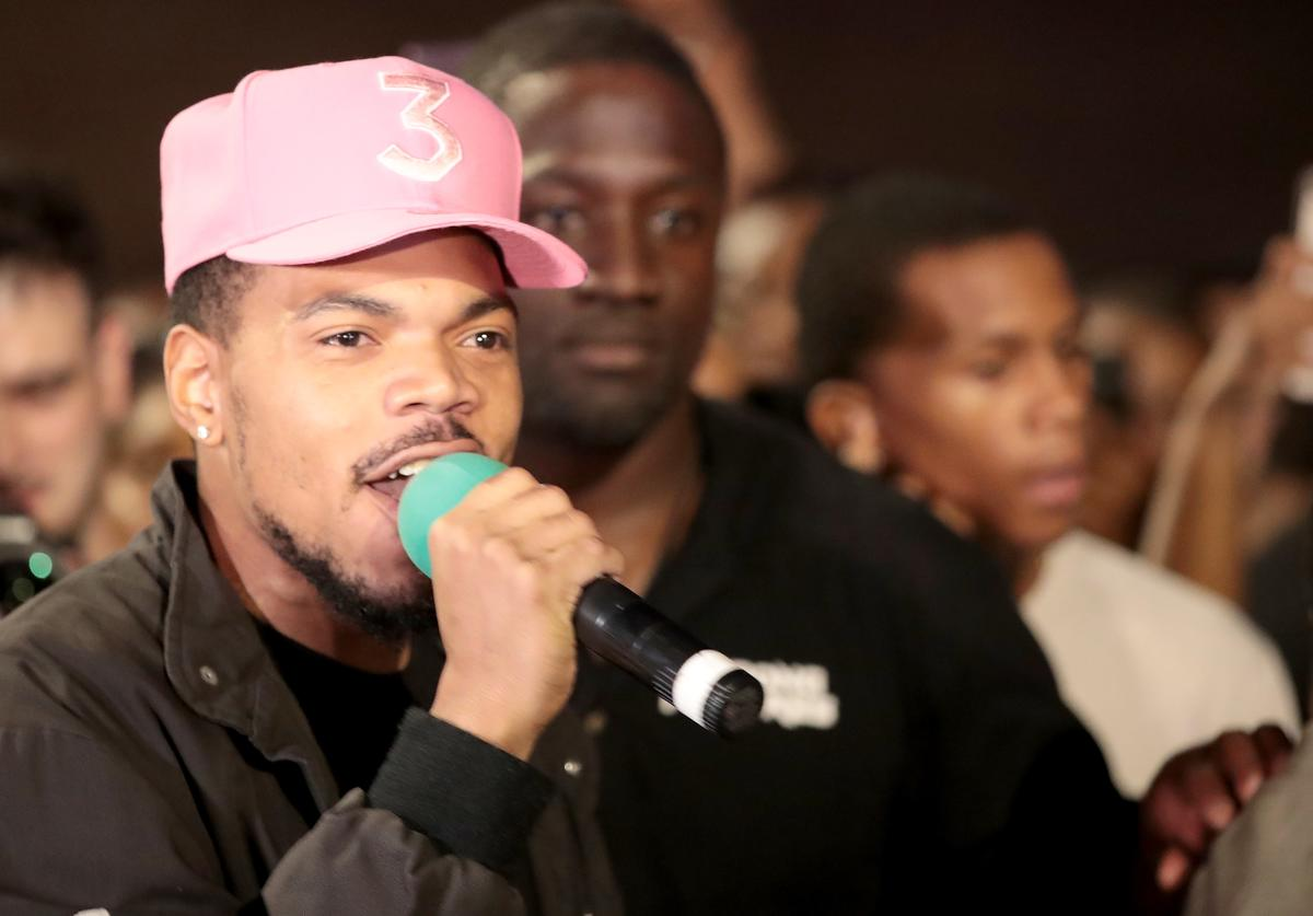 Chance the Rapper participates in an end of school year peace march and rally on June 15, 2018 in Chicago, Illinois