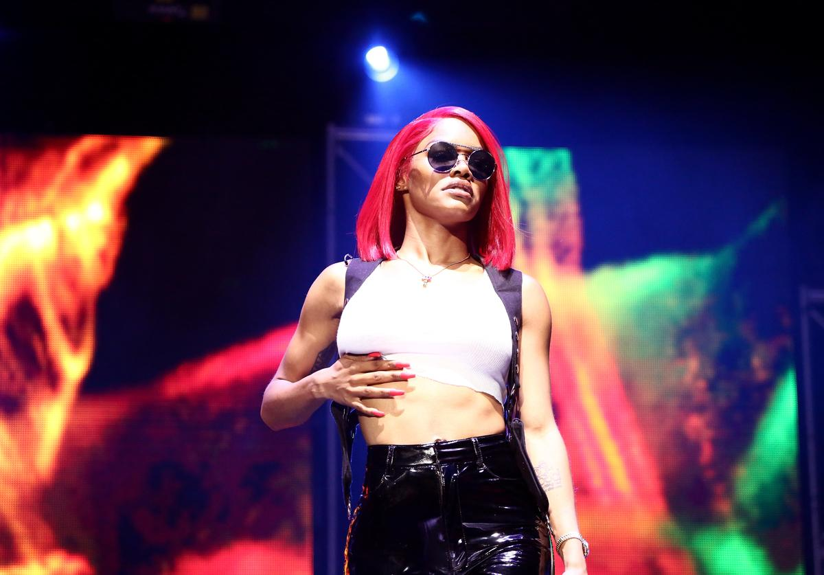 Teyana Taylor performs at 2018 BET Experience Staples Center Concert, sponsored by COCA-COLA, at L.A. Live on June 22, 2018 in Los Angeles, California
