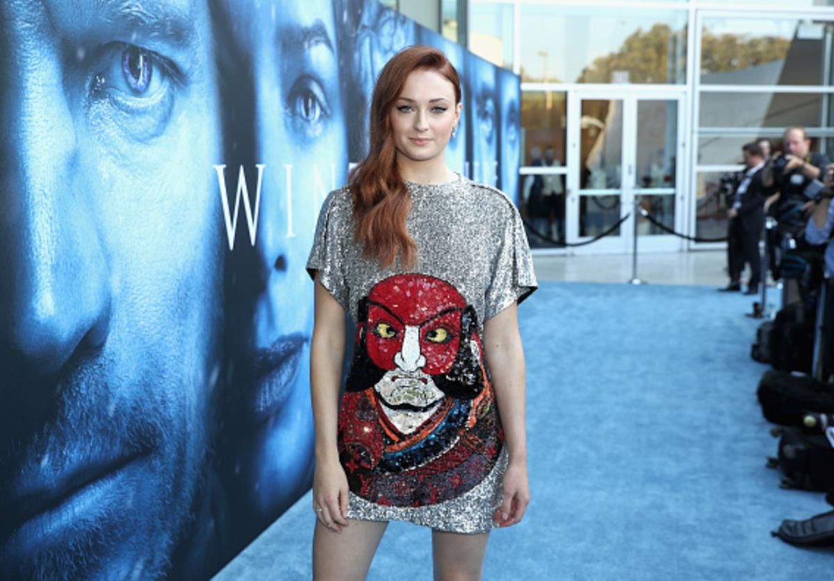 Actor Sophie Turner attends the premiere of HBO's 'Game Of Thrones' season 7 at Walt Disney Concert Hall on July 12, 2017 in Los Angeles, California.