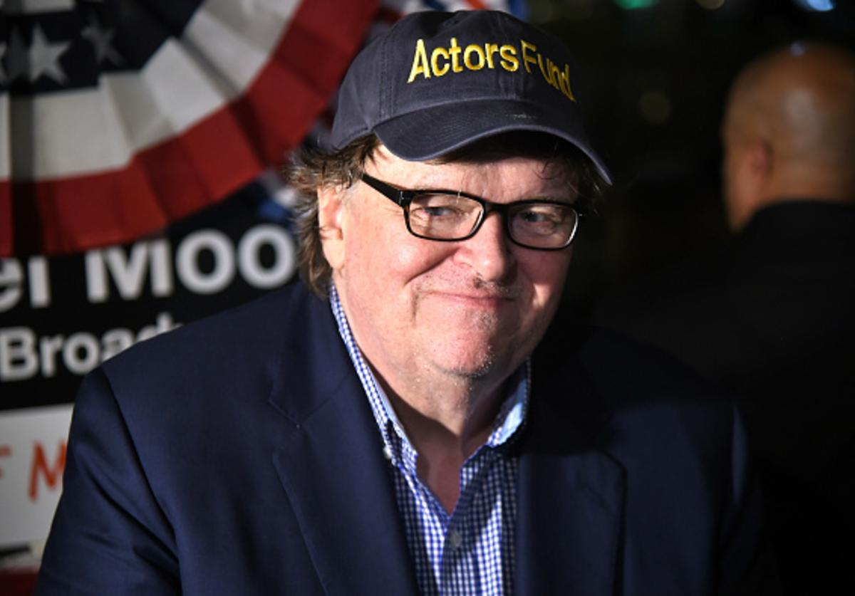 Michael Moore attends 'The Terms Of My Surrender' Broadway Opening Night - After Party at Bryant Park Grill on August 10, 2017 in New York City.