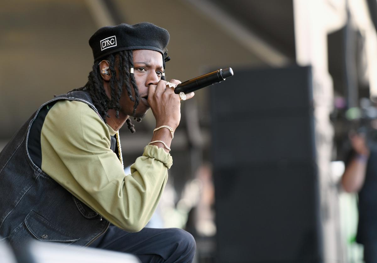 Joey Bada$$ performs onstage during the Meadows Music And Arts Festival