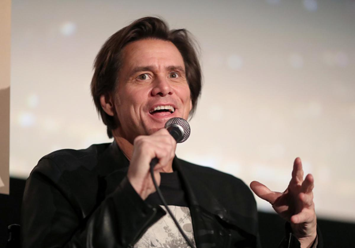 Jim Carrey speaks onstage during 'Jim & Andy: The Great Beyond - Featuring a Very Special, Contractually Obligated Mention of Tony Clifton' at AFI FEST 2017 Presented By Audi at TCL Chinese 6 Theatres on November 13, 2017 in Hollywood, California.