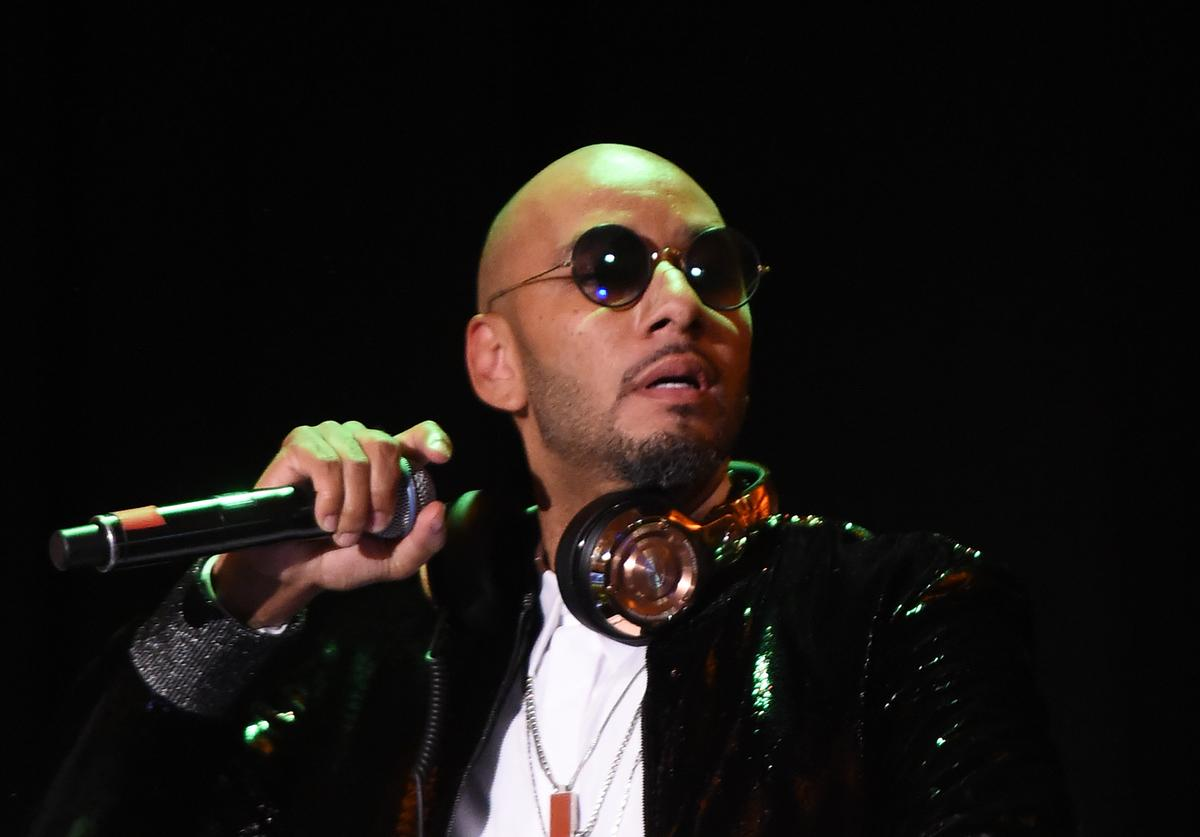 Recording artist Kasseem 'Swizz Beatz' Dean performs on stage at the Eighth Annual Brooklyn Artists Ball at The Brooklyn Museum on April 17, 2018 in New York City.