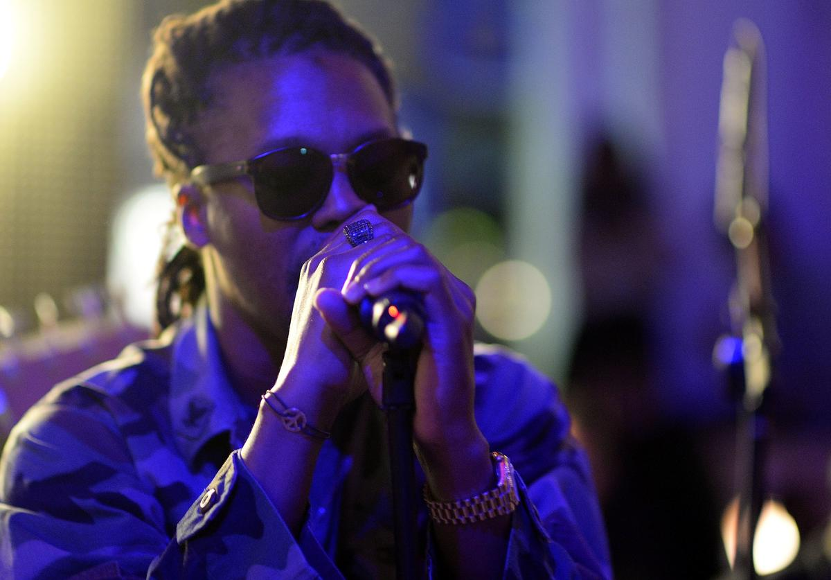 Lupe Fiasco performs at 'Born In Blue: Remixed And Reissued' exhibition opening, exploring 75 years of Blue Note Records at Sonos Studio on September 10, 2014 in Los Angeles, California