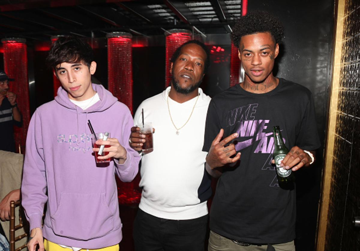Diablo (L) and Boonk (R) attend Lil Pump's 17th Birthday Party at Ace Of Diamonds on August 17, 2017 in West Hollywood, California.
