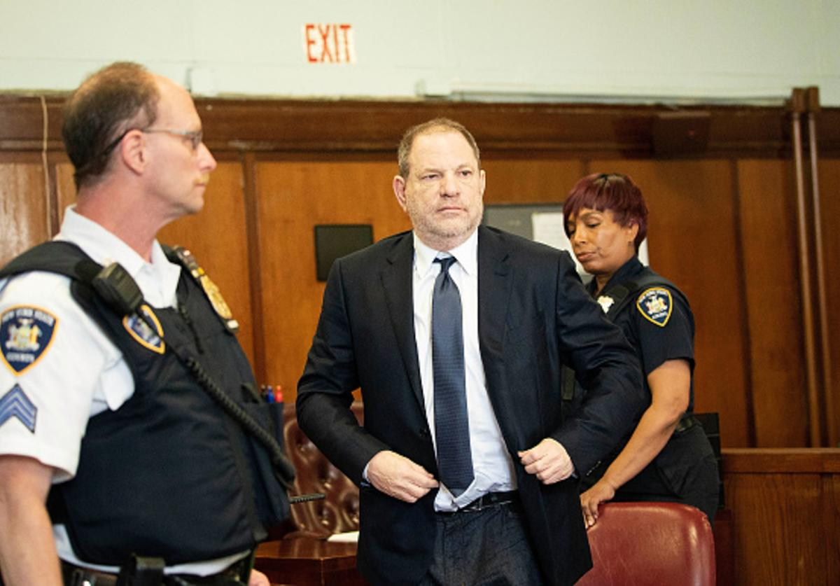 Harvey Weinstein arrives to plead not guilty to three felony counts in State Supreme Court on June 5, 2018 in New York City.