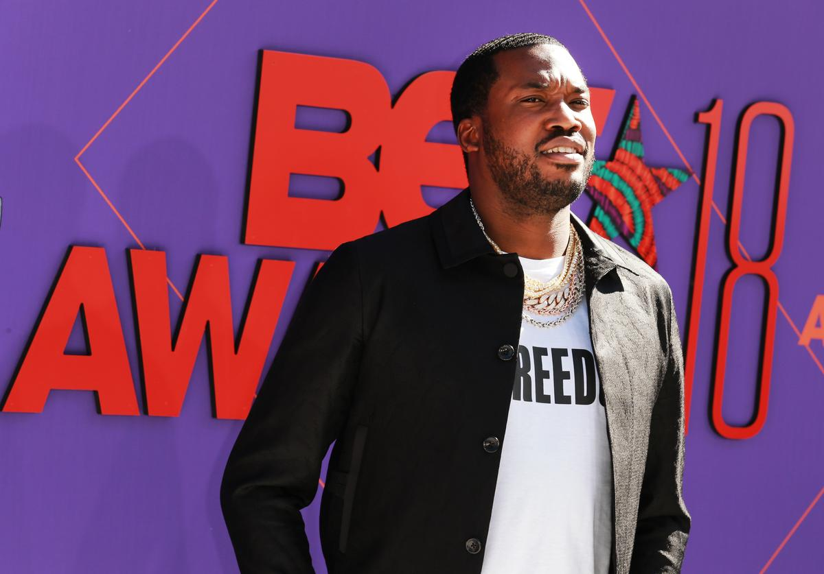 Meek Mill attends the 2018 BET Awards at Microsoft Theater on June 24, 2018 in Los Angeles, California.
