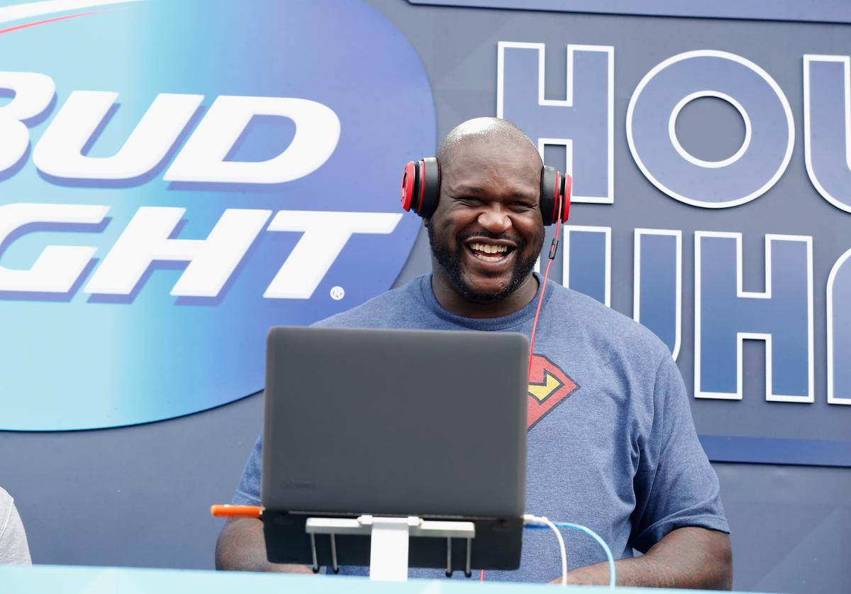 Shaq performs at Bud Light House of Whatever, which featured three days of parties, concerts and activities leading up to Super Bowl XLIX.