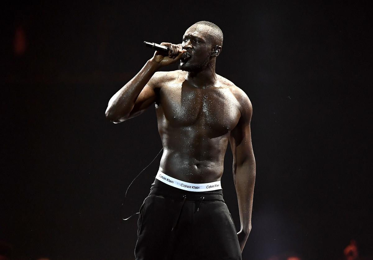 Stormzy performs at The BRIT Awards 2018 held at The O2 Arena on February 21