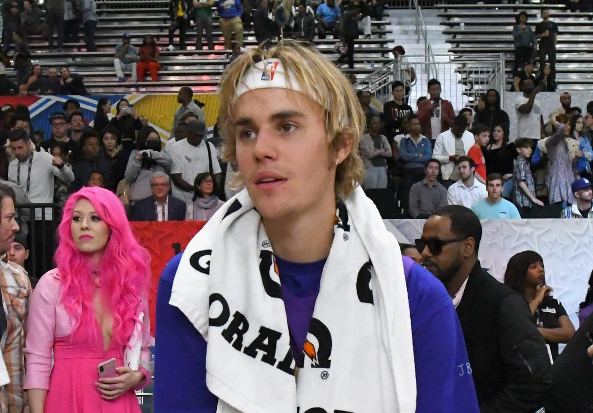 Justin Bieber at the 2018 NBA Celebrity All-Star Game