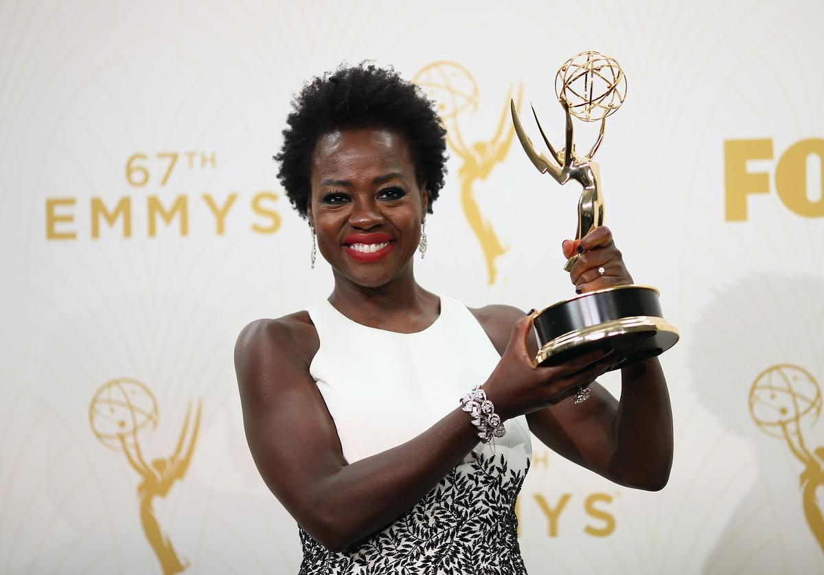 Actress Viola Davis, winner of the award for Outstanding Lead Actress in a Drama Series for 'How to Get Away With Murder', poses in the press room at the 67th Annual Primetime Emmy Awards at Microsoft Theater on September 20, 2015 in Los Angeles, California.