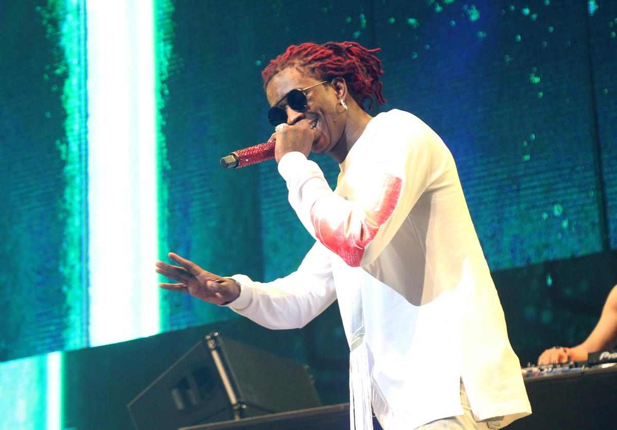 Young Thug performs onstage at night three of the STAPLES Center Concert, sponsored by Sprite, during the 2017 BET Experience at Staples Center on June 24, 2017 in Los Angeles, California.
