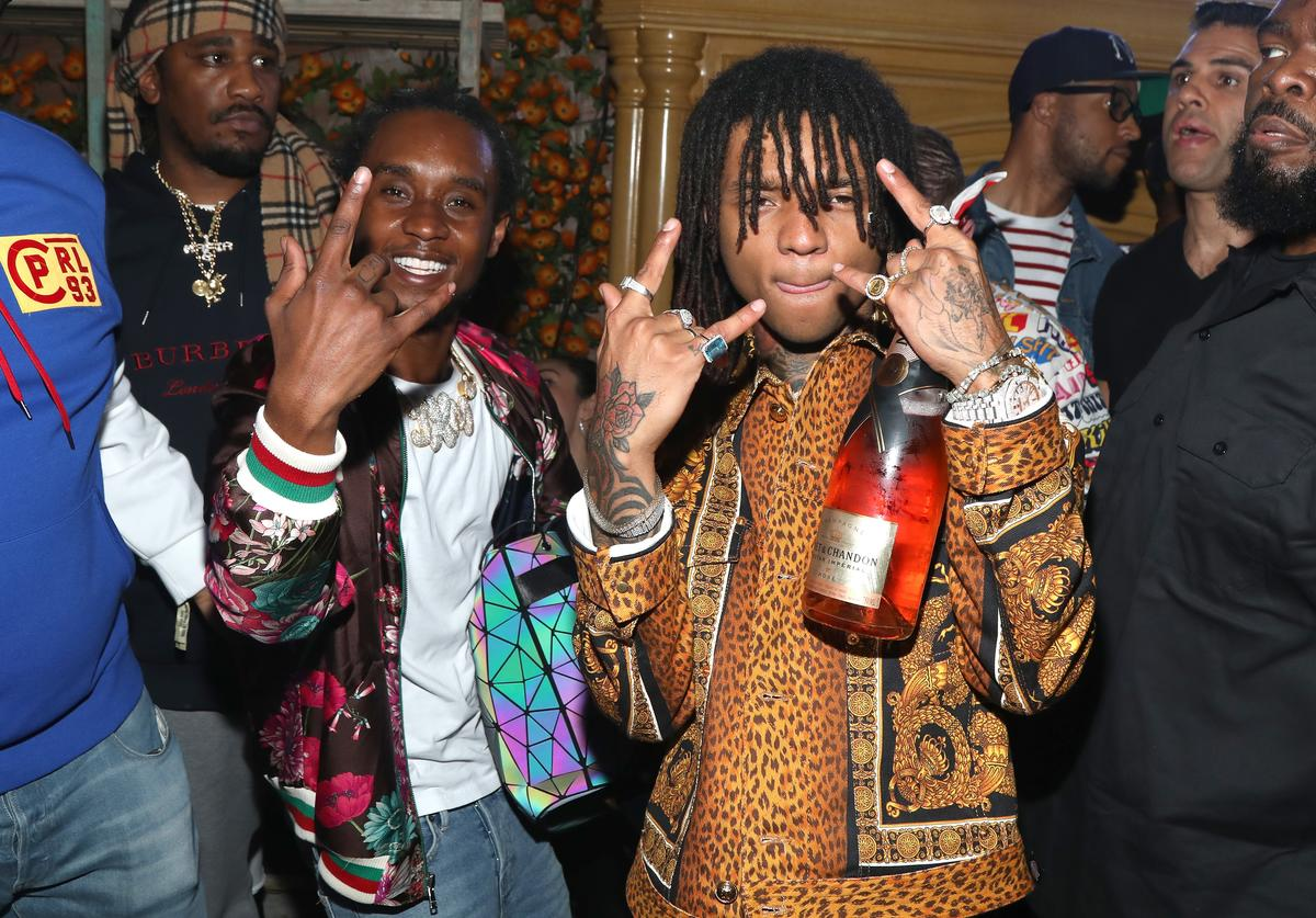 Slim Jxmmi and Swae Lee attend IGA X BET Awards Party 2018 on June 23, 2018 in Los Angeles, California.