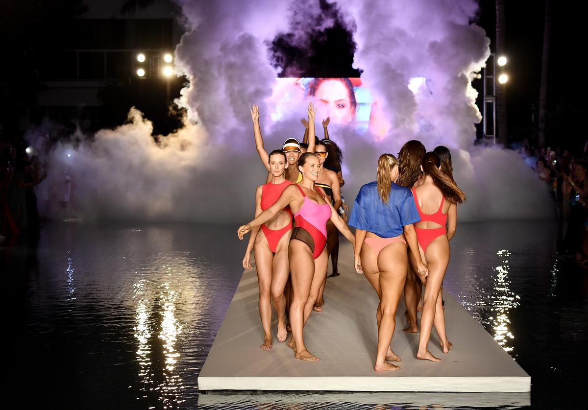 Models walk the runway for the 2018 Sports Illustrated Swimsuit show at PARAISO during Miami Swim Week at The W Hotel South Beach on July 15, 2018 in Miami, Florida.