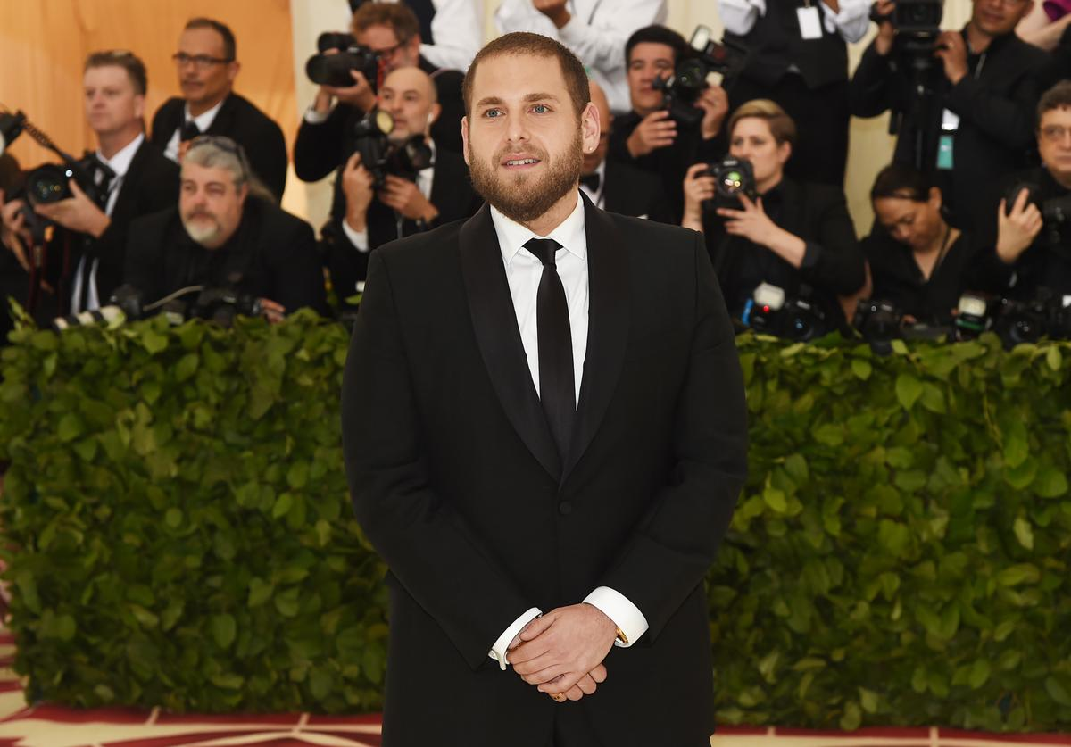 Jonah Hill attends the Heavenly Bodies: Fashion & The Catholic Imagination Costume Institute Gala at The Metropolitan Museum of Art on May 7, 2018 in New York City. (