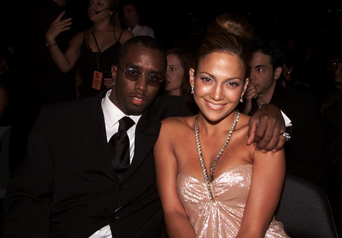 Sean 'Puffy' Combs with Jennifer Lopez in the audience at the 1st Annual Latin Grammy Awards broadcast on Wednesday, September 13, 2000 at the Staples Center in Los Angeles, CA.