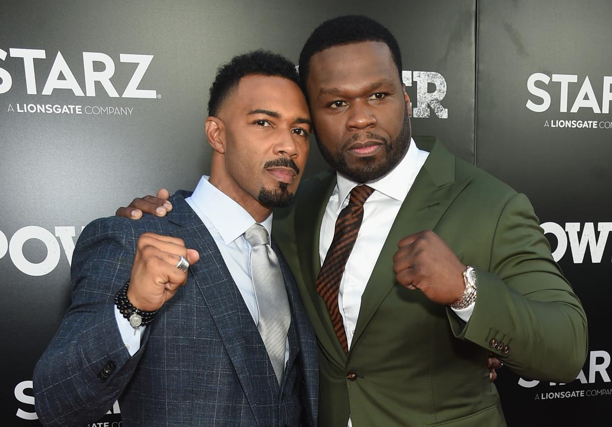 Omari Hardwick (L) and Curtis '50 cent' Jackson attend the Starz 'Power' The Fifth Season NYC Red Carpet Premiere Event & After Party on June 28, 2018 in New York City.