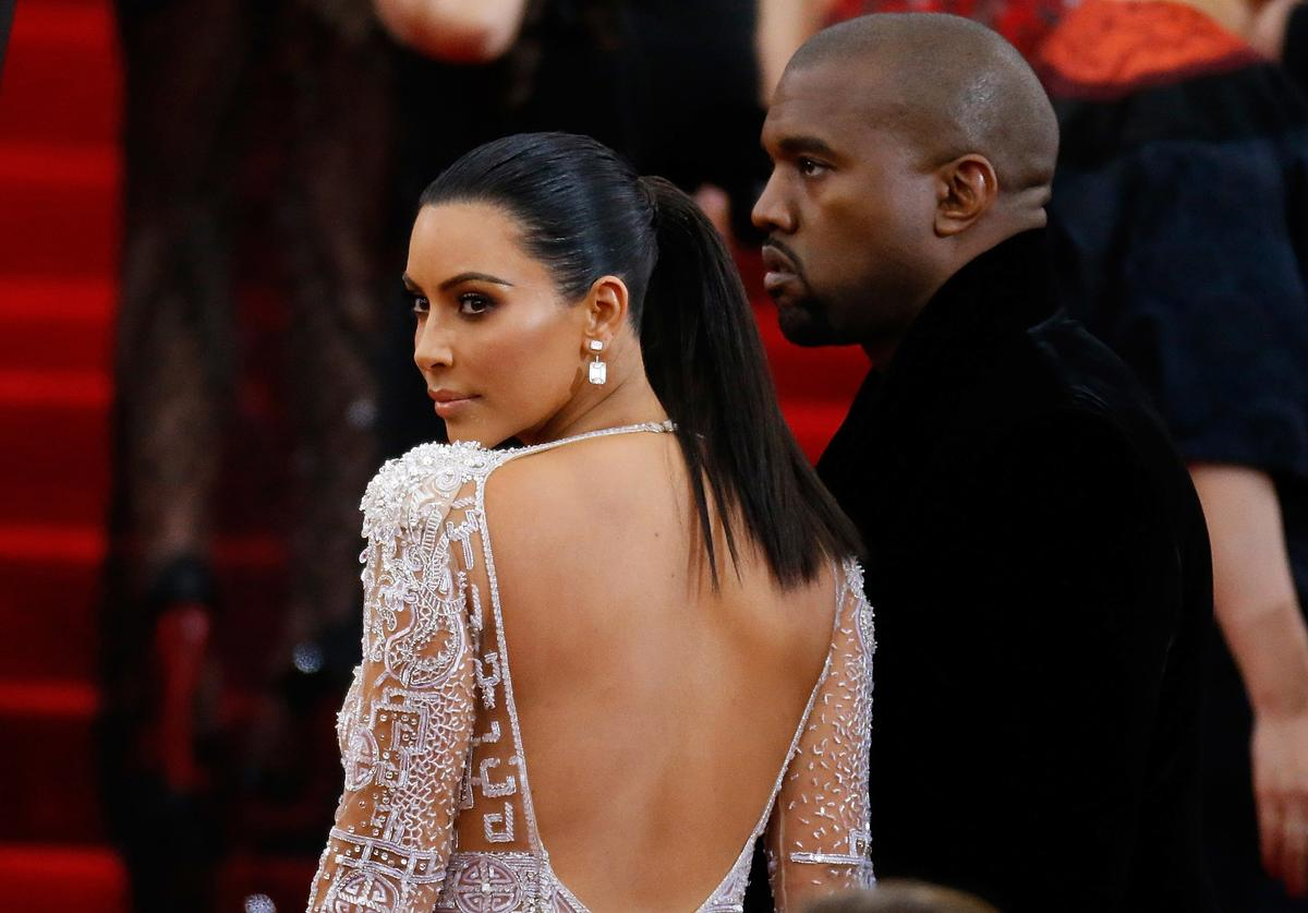 Kanye West and Kim Kardashian attend 'China: Through The Looking Glass' Costume Institute Benefit Gala at Metropolitan Museum of Art on May 4, 2015 in New York City