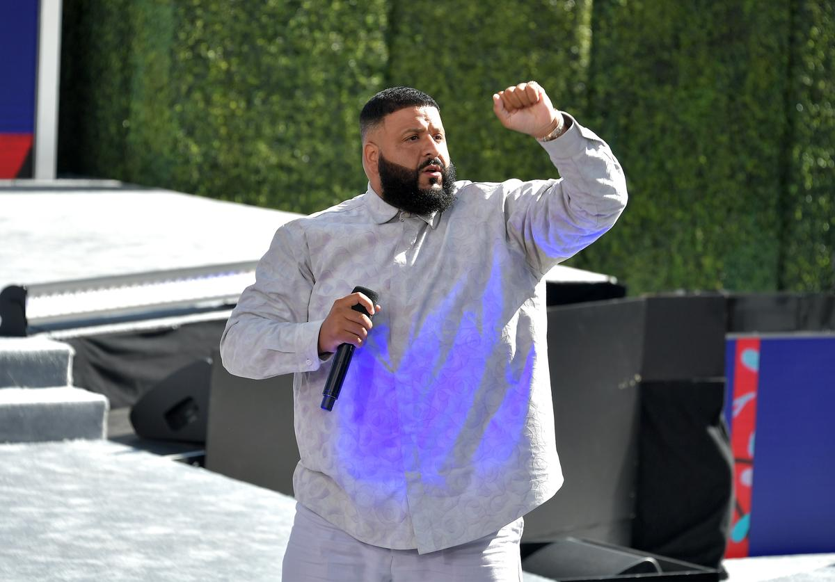 DJ Khaled performs onstage at Live! Red! Ready! Pre-Show, sponsored by Nissan, at the 2018 BET Awards at Microsoft Theater on June 24, 2018 in Los Angeles, California.