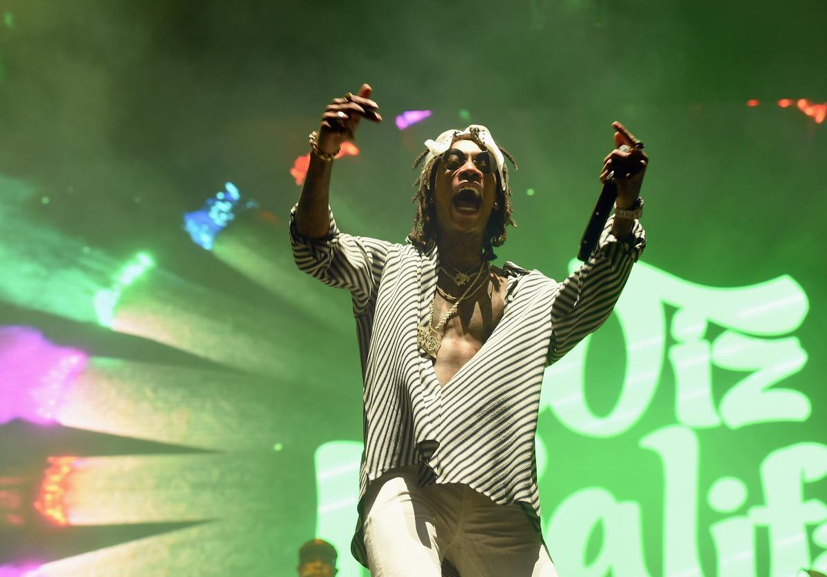 Wiz Khalifa performs onstage during the 2017 Governors Ball Music Festival - Day 3 at Randall's Island on June 4, 2017 in New York City