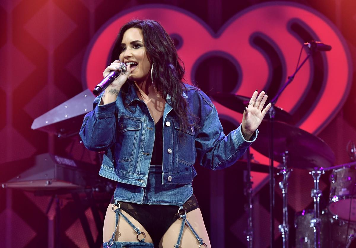 Demi Lovato performs at Y100's Jingle Ball 2017 at BB&T Center on December 17, 2017 in Sunrise, Florida