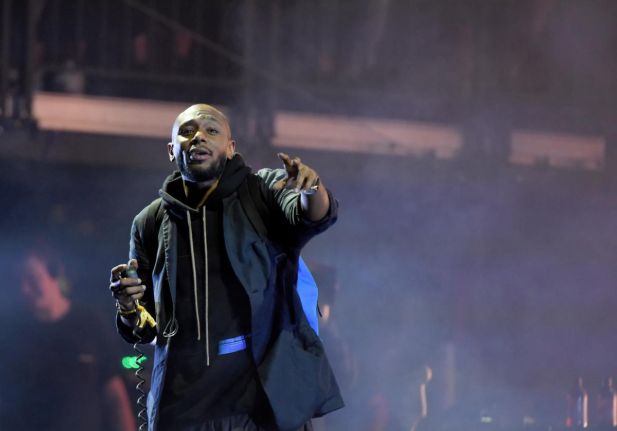 Mos Def performs onstage with Gorillaz during the Meadows Music and Arts Festival - Day 2 at Citi Field on September 16, 2017 in New York City.