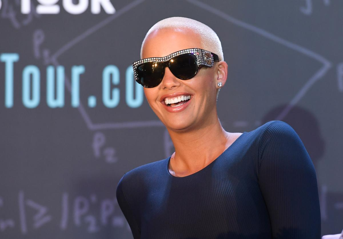 Amber Rose onstage at AHF Presents The Know Your Status Tour -Atlanta at Clark Atlanta Univeristy on April 20, 2017 in Atlanta, Georgia