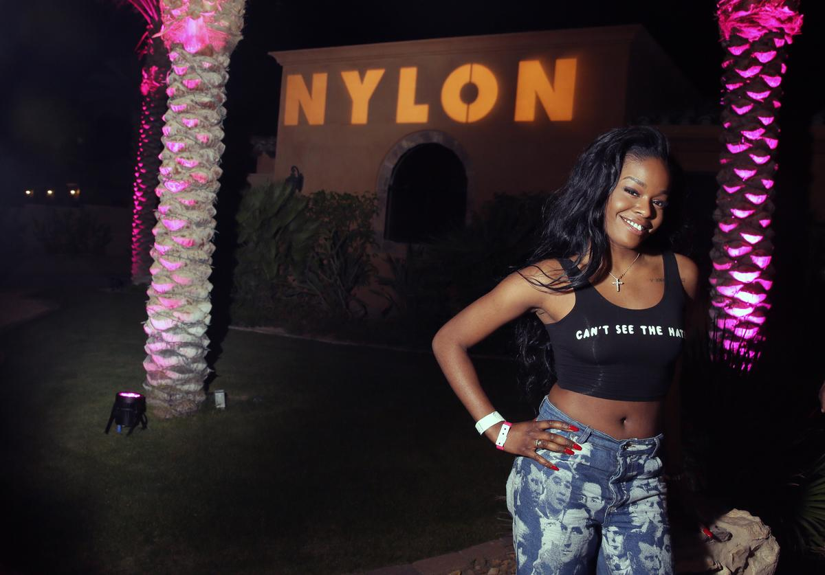 Rapper Azealia Banks attends the NYLON Midnight Garden Party at a private residence on April 10, 2015 in Bermuda Dunes, California.