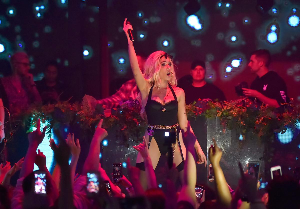 Halsey performs at Playboy's Midsummer Night's Dream at the Marquee Nightclub at The Cosmopolitan of Las Vegas on July 28, 2018 in Las Vegas, Nevada