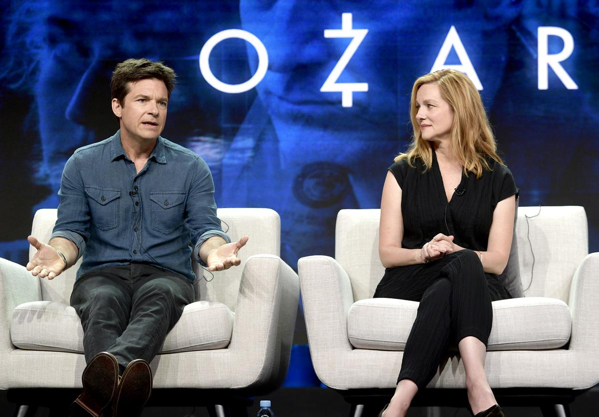 Jason Bateman and Laura Linney of 'Ozark' speak onstage during Netflix TCA 2018 at The Beverly Hilton Hotel on July 29, 2018 in Beverly Hills, California.