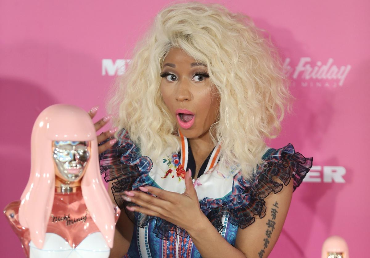 Nicki Minaj poses during an event to celebrate the launch of her new perfume at Myer Sydney City on November 29, 2012 in Sydney, Australia
