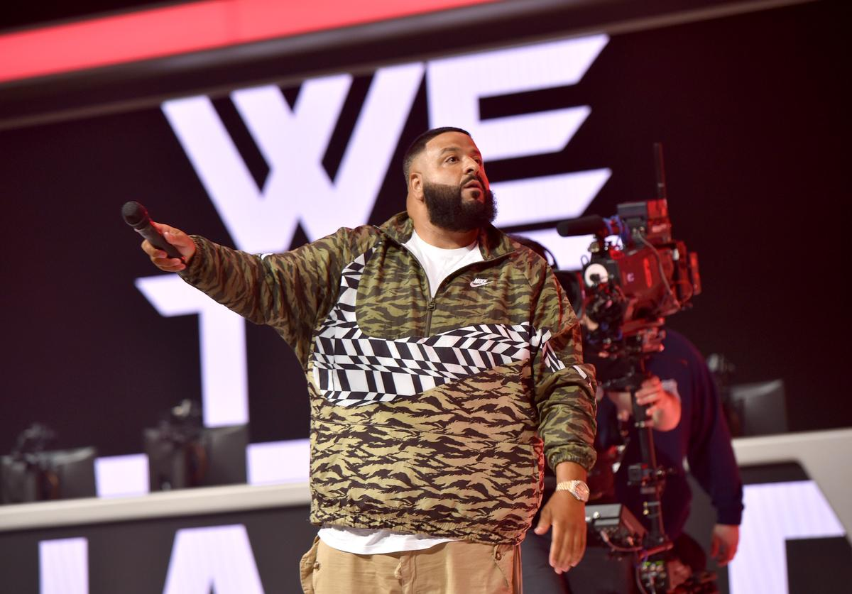 DJ Khaled onstage at Overwatch League Grand Finals - Day 2 at Barclays Center on July 28, 2018 in New York City
