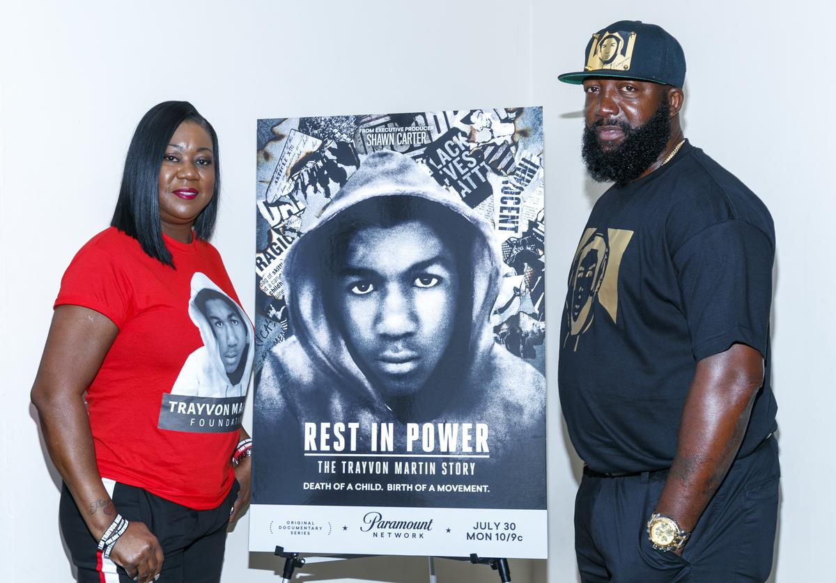 Sybrina Fulton and Tracy Martin attend 'Rest In Power: The Trayvon Martin Story' Screening on July 26, 2018 in Venice, California