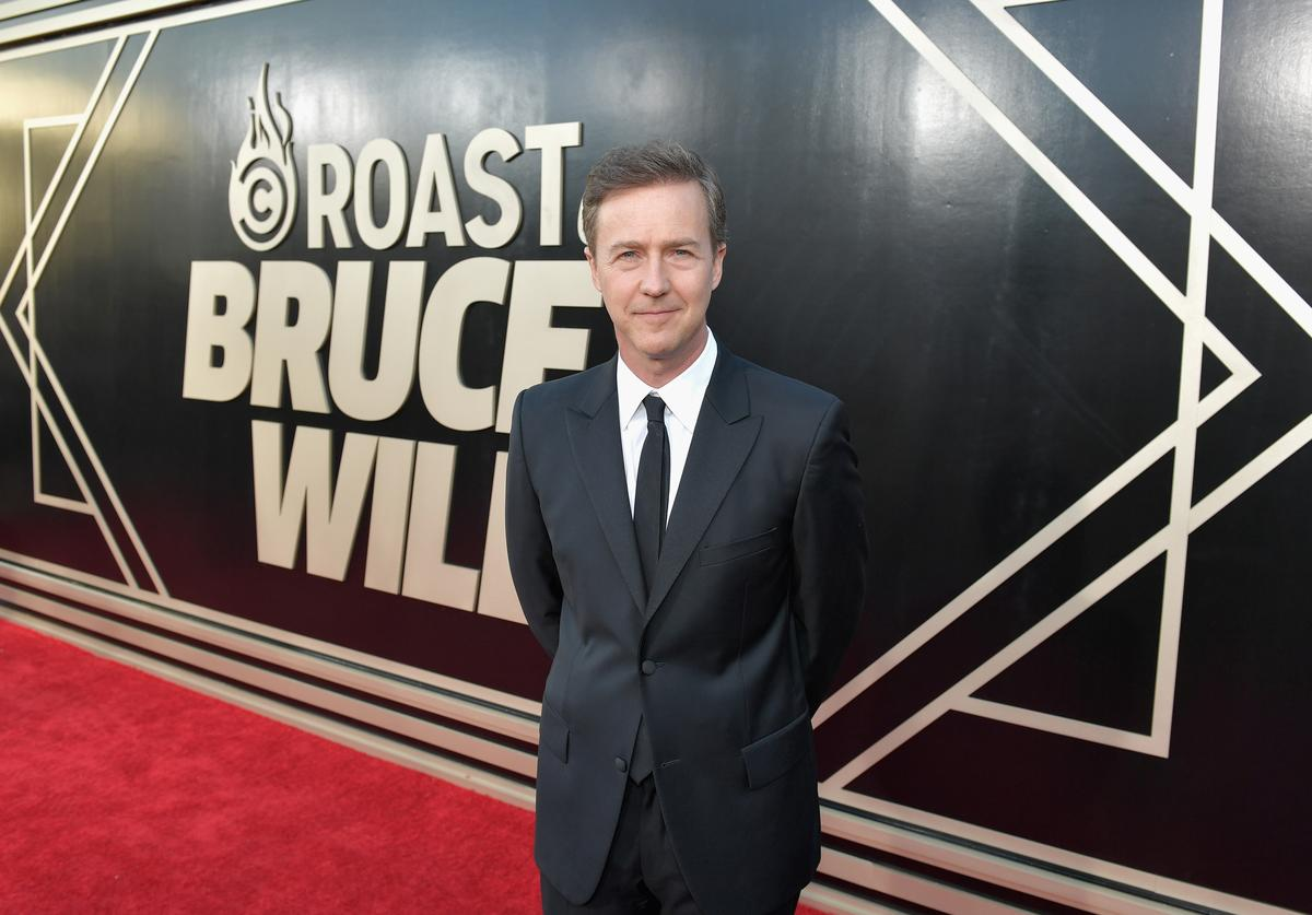 Edward Norton attends the Comedy Central Roast of Bruce Willis at Hollywood Palladium on July 14, 2018 in Los Angeles, California