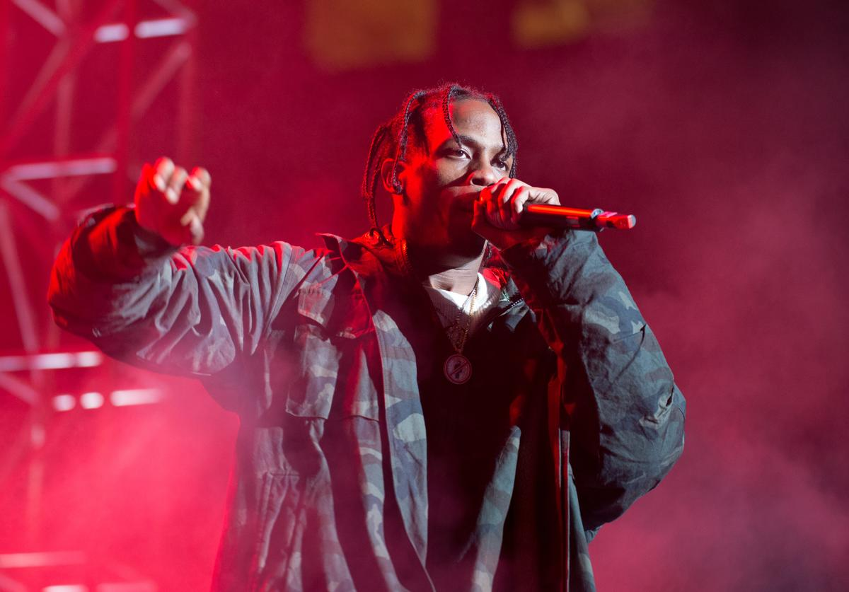Travis Scott performss at Roc city classic: Flatiron District on February 12, 2015 in New York City