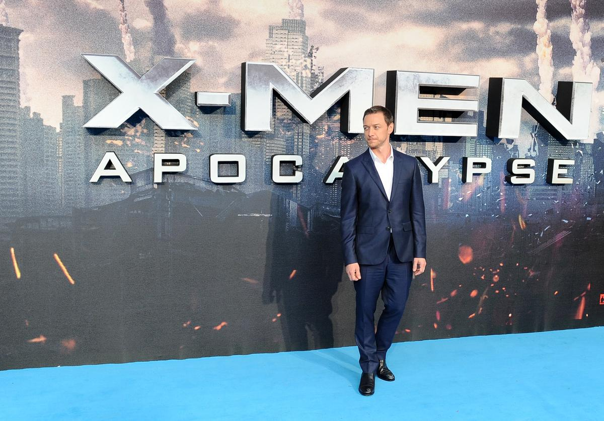 ames McAvoy attends a Global Fan Screening of 'X-Men Apocalypse' at BFI IMAX on May 9, 2016 in London, England.