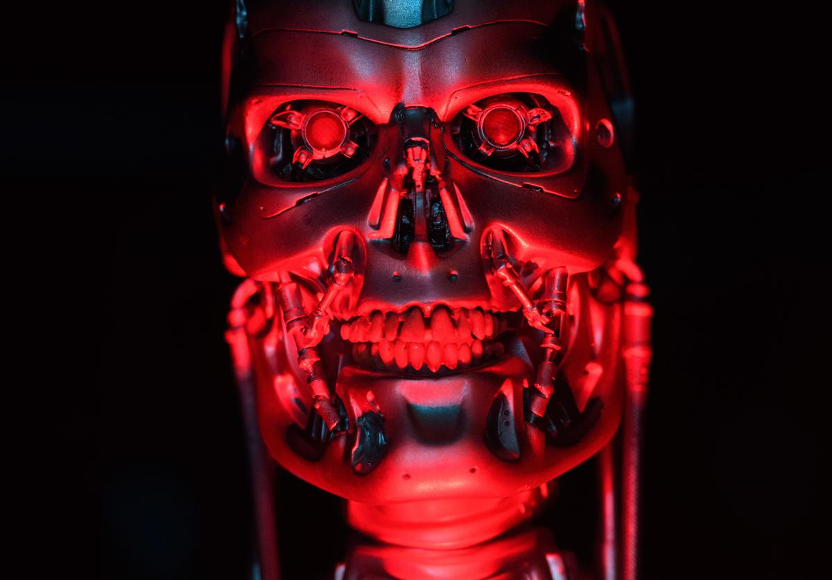 The original T-800 Endoskeleton robot used in filming Terminator Salvation is displayed during the press preview for the 'Robots' exhibition at the Science Museum on February 7, 2017 in London, England.