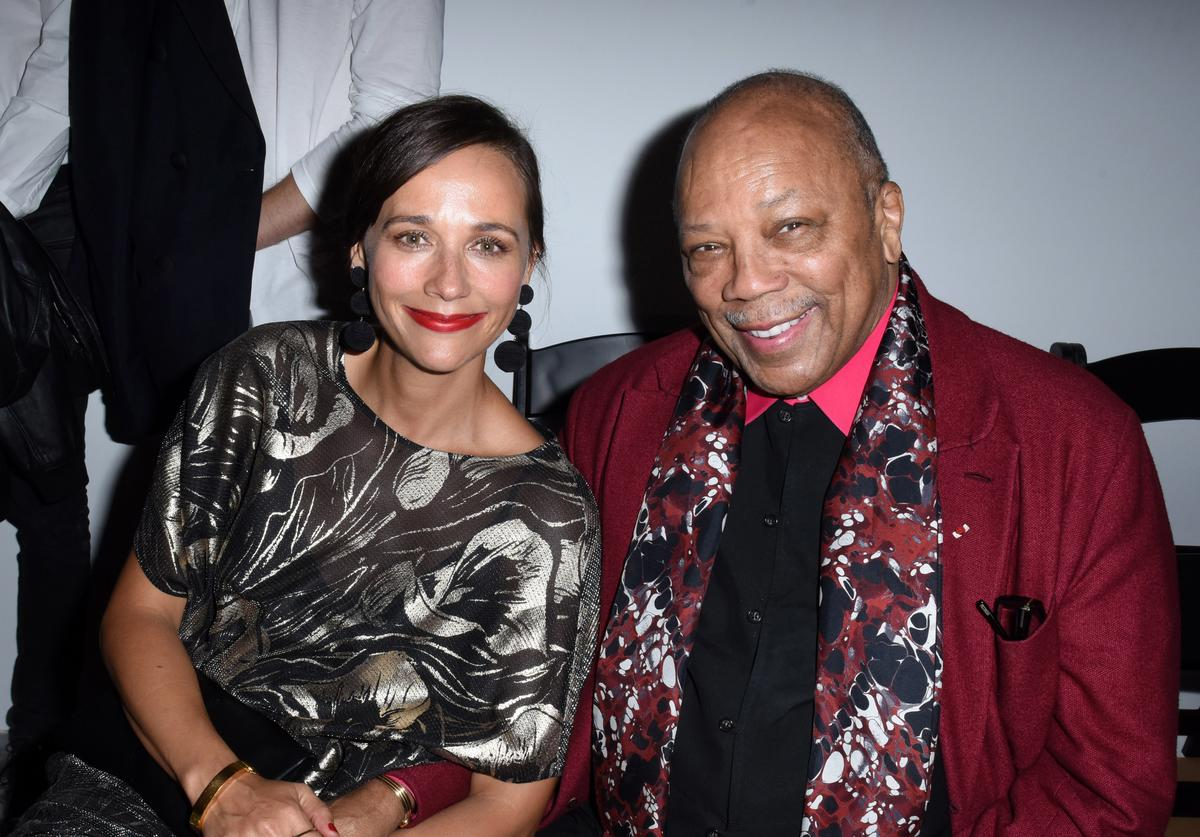 Rashida Jones and Quincy Jones attend the 2017 Los Angeles Dance Project Gala on October 7, 2017 in Los Angeles, California