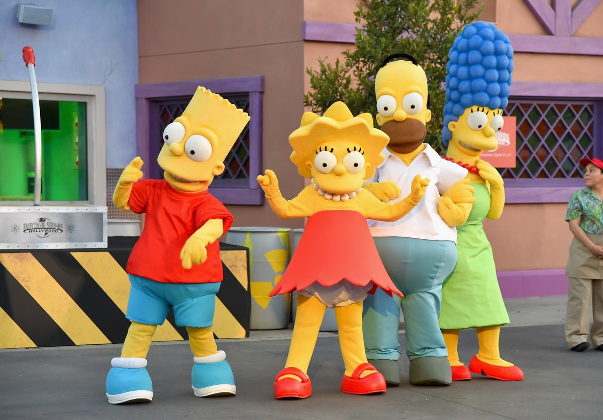 The Simpsons attend the 'Taste of Springfield' press event at Universal Studios Hollywood on May 12, 2015 in Universal City, California.