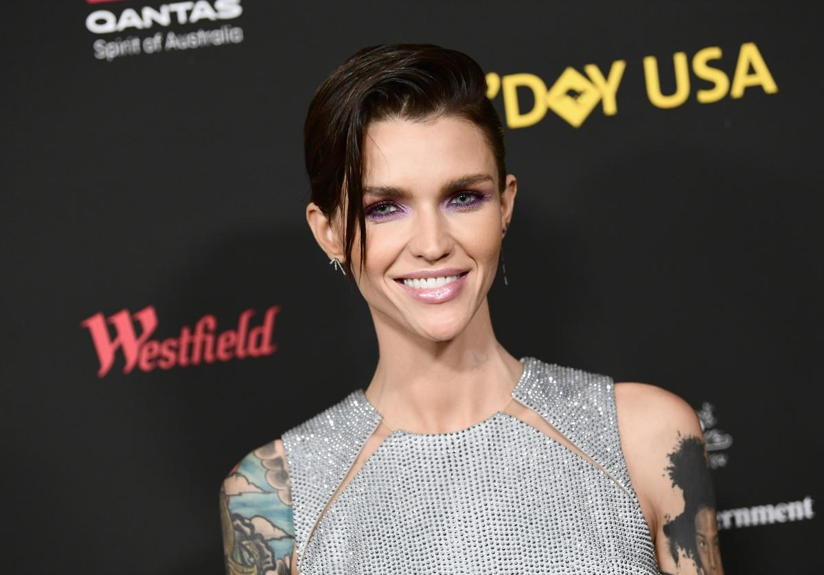 Ruby Rose attends 2018 G'Day USA Los Angeles Black Tie Gala at InterContinental Los Angeles Downtown on January 27, 2018 in Los Angeles, California.