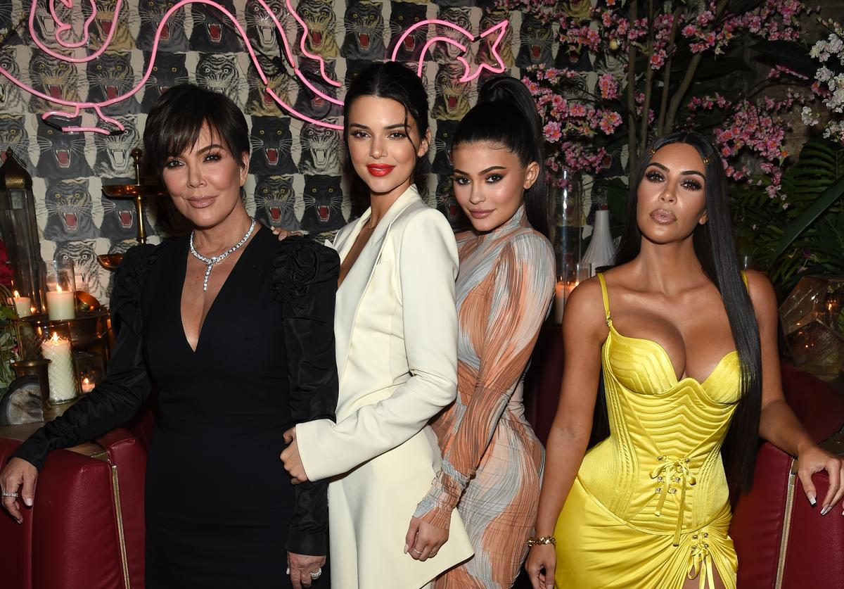 Talent Manager, Jenner Communications, Kris Jenner, Model Kendall Jenner, Founder, Kylie Cosmetics Kylie Jenner, Founder, The Business of Fashion Imran Amed and Founder and CEO, KKW Kim Kardashian attends an intimate dinner hosted by The Business of Fashion to celebrate its latest special print edition 'The Age of Influence' at Peachy's/Chinese Tuxedo on May 8, 2018 in New York City.