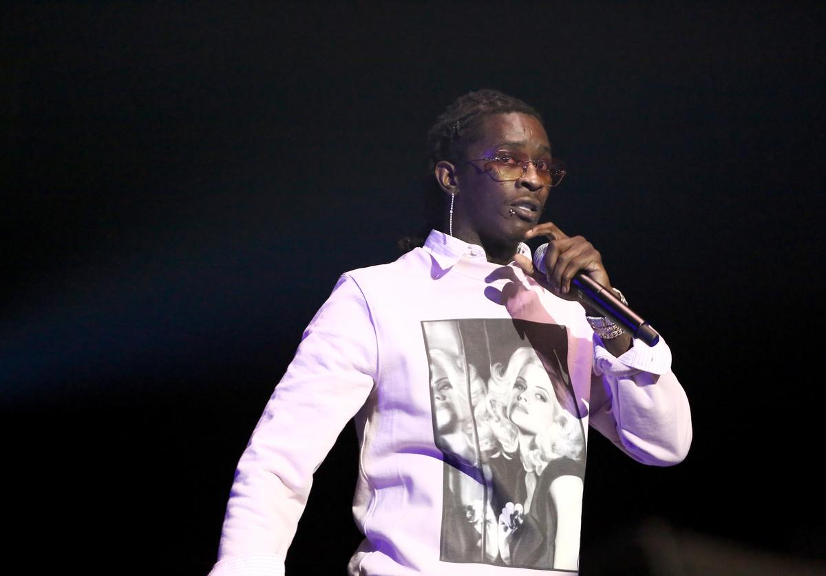 Young Thug performs onstage at the STAPLES Center Concert Sponsored by SPRITE during the 2018 BET Experience on June 23, 2018 in Los Angeles, California.