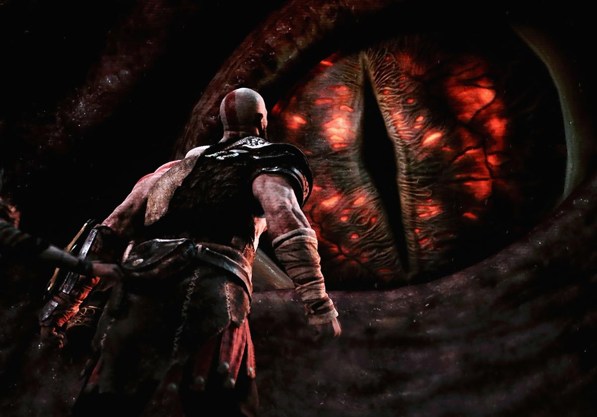 'God of War' for the PS4 is revealed during the Sony Playstation E3 conference at the Shrine Auditorium on June 12, 2017 in Los Angeles, California. The E3 Game Conference begins on Tuesday June 13.